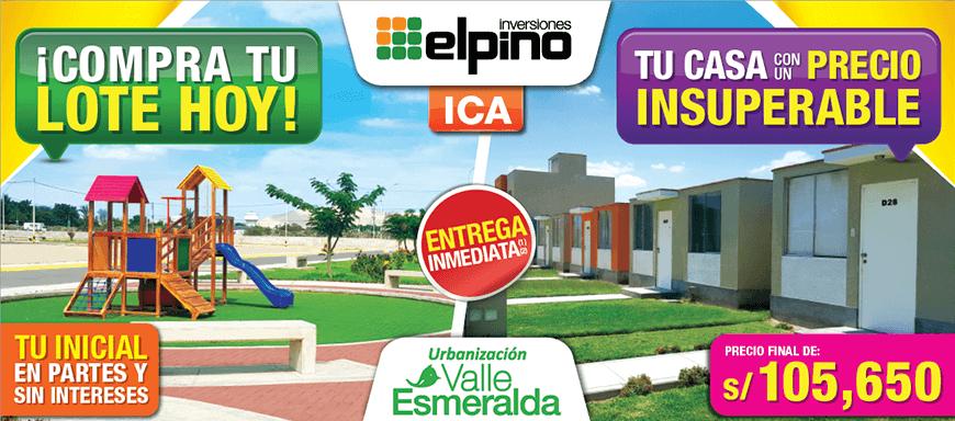 Lotes y Casas en Oferta - Ica, Urb. Valle Esperanza